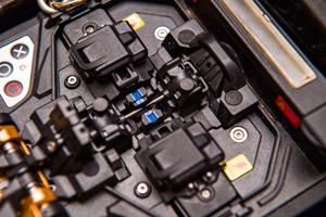 Fusionadora de fibra óptica