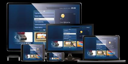 Varios dispositivos IPTV